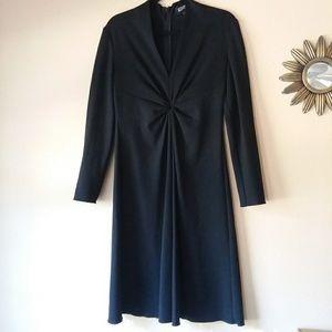 Adrianna Papell long sleeve black dress